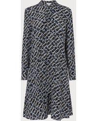 L.K.Bennett - Lotte Black Print Dress - Lyst