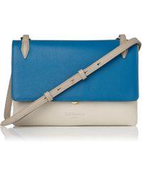 L.K.Bennett - Patricia Blue Leather Shoulder Bag - Lyst