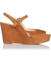 7c00fe8fccfd5 L.K.Bennett Laura Thong Wedge Sandals in Black - Lyst