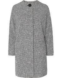L.K.Bennett - Yves Black And White Tweed Coat - Lyst