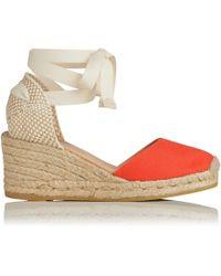 922632ff60ff9 L.K.Bennett - Maureen Orange Cotton Espadrille Sandals - Lyst