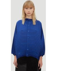 Issey Miyake - Blossom Pleated Shirt In Blue - Lyst