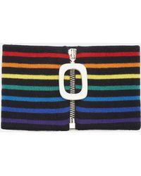 J.W. Anderson   Striped Zipped Neckband In Multicolour   Lyst