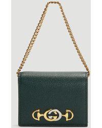 Gucci - Zumi Grainy Leather Card Case - Lyst