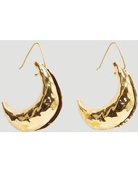 Marni - Textured Crescent Earrings In Gold - Lyst