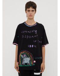 Vetements - Elephant Luis T-shirt In Black - Lyst