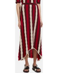 Marni - Striped Knit Skirt - Lyst