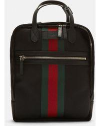 Gucci - Web Stripe Backpack In Black - Lyst