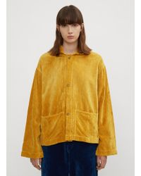 STORY mfg. - Short-on-time Velvet Jacket In Yellow - Lyst