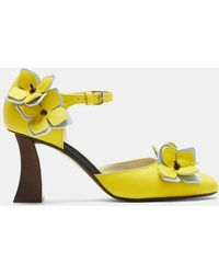 Marni - Floral Mary Jane Heels In Yellow - Lyst