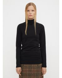 Vetements - Fitted Inside Out Turtle Neck Top In Black - Lyst