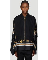 Burberry - Scarf Detail Bomber Jacket In Black - Lyst