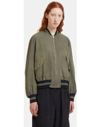 STORY mfg. - P17 Reversible Seed Bomber Jacket In Khaki - Lyst