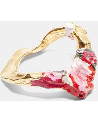 Acne Studios - Aggy Painted Bangle In Gold, Pink And Grey - Lyst