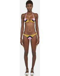 All That Remains | Women's Sugar Zigzag Bikini In Pink, Navy And Yellow | Lyst