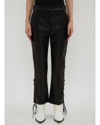 Stella McCartney - Lace-up Trousers In Black - Lyst