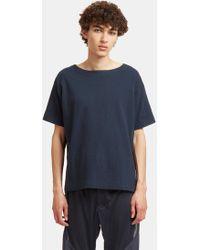 Snow Peak - Men's Organic Wide Neck T-shirt In Navy - Lyst
