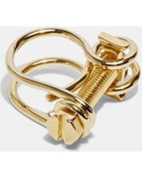 Ribeyron Gold Looped Screw Ring vq8QY