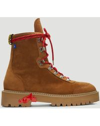 Off-White c/o Virgil Abloh - Hiking Boots In Brown - Lyst