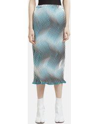 Issey Miyake - Lettuce Hem Flow Pencil Skirt In Blue - Lyst
