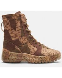 Yeezy - Splinter Camo Washed Canvas Military Boots In Camo - Lyst