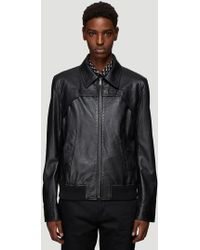 Saint Laurent - Leather Bomber Jacket In Black - Lyst