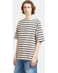 Acne Studios - Men's Nimes Striped T-shirt In Off-white And Black - Lyst