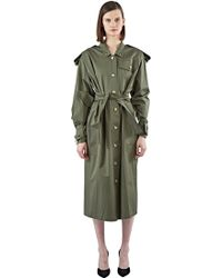 Anne Sofie Madsen - Women's Long Strapped Trench Coat In Khaki - Lyst