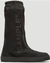 Off-White c/o Virgil Abloh - Neotulle 'sample' Boots In Black - Lyst