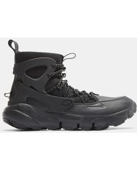 Nike - Air Footscape Mid Utility Sneakers In Black - Lyst