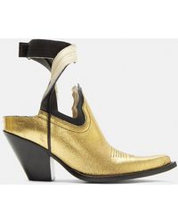 Maison Margiela - Vegas Cut-out Ankle Boots In Gold - Lyst