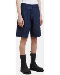 Raf Simons - Replicants Denim Shorts In Blue - Lyst