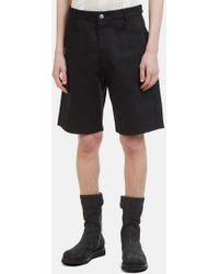 Raf Simons - Replicants Denim Shorts In Black - Lyst