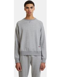 Russell Athletic - Raglan Crew Neck Sweater In Grey - Lyst