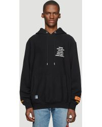 Heron Preston - Hooded Worker Print Sweater In Black - Lyst