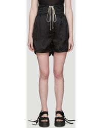 Rick Owens - Babel Boxing Shorts In Black - Lyst