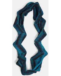 Issey Miyake | Planet Three-dimensional Scarf In Turquoise, Burgundy And Black | Lyst