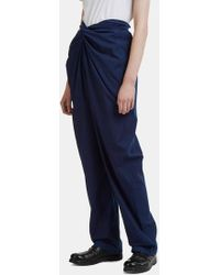 Cosmic Wonder - Bow Front Trousers In Blue - Lyst