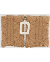 JW Anderson - Cable Knit Neckband In Brown - Lyst
