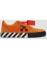 Off-White c/o Virgil Abloh - Vulcanised Low Top Suede Sneakers - Lyst