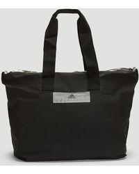 adidas By Stella McCartney Zebra Striped Nylon Gym Bag in Black - Lyst a13766e923718
