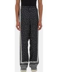 Fendi - Men's Printed Pyjama Trousers In Black And White - Lyst