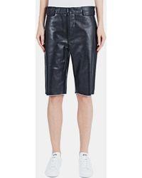 Haal - Women's Diana Long Leather Shorts In Black - Lyst