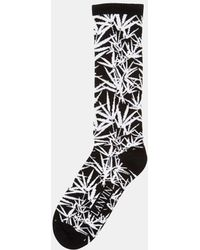 Lanvin - Men's Thick Jungle Print Socks In Black And White - Lyst