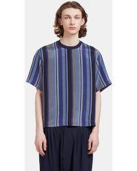 Mohsin - Men's Delila Oversized Striped T-shirt In Blue - Lyst