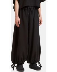 Marvielab - Men's Oversized Cropped Drawstring Pants In Black - Lyst