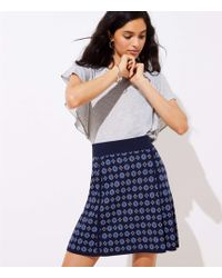 LOFT - Petite Mosaic Sweater Flippy Skirt - Lyst