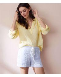 LOFT - Lou & Grey Garment Dye Linen Shorts - Lyst