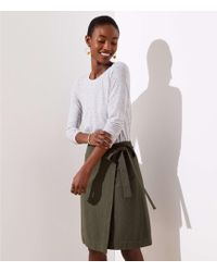 LOFT - Petite Wrap Skirt - Lyst
