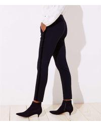 LOFT - Petite Skinny Velvet Stripe Ankle Pants In Julie Fit - Lyst